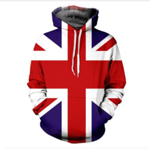 Wholesale UNION JACK d Print HOODIE With Pocket Fashion Clothing Jumper Outfits Tops Hoody Sweatshirts Hoodies Sweats For Women Men LMS0008