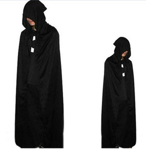 Wholesale Halloween costume adult children black cloak cloak witch rode death vampire cosplay costumes Japanese anime death god cosque cloak