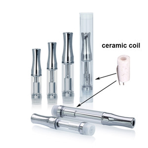 Wholesale best drip tips for sale - Group buy Best Thick Oil Vaporizer Round Stainless steel Drip tip Pyrex Tube Full ceramic oil Atomizer ml ml ml concentrate Oil Cartridge C3
