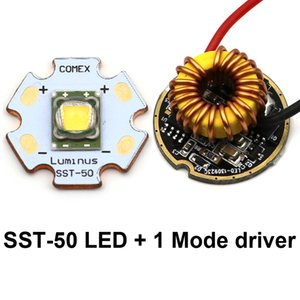 Wholesale Luminus SST LED Emitter LM W K warm white Led Chip bulb diode mm copper base Mode SST50 driver Circuit board