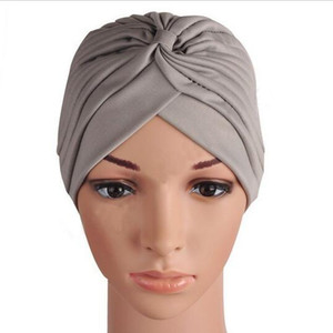Wholesale Turbantes Mujer Cappelli Turbante Indian Turban Hat Turbante Headwrap Gorros Headband Wrap Cap Cloche Bandanas Women s hats HJIA1114