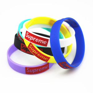 Hot suprme silicone wristbands Tide supre 6-color silicone wristband Sup Bracelet on Sale