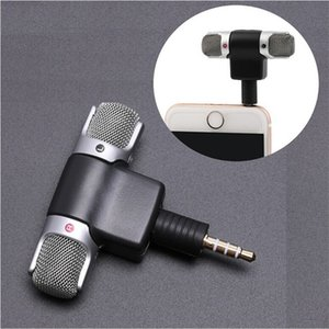 Wholesale Portable Mini Mic Digital Stereo Microphone Professional Mini Recorder for Mobile Phones Iphone PC MD Camera