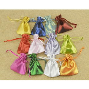 Wholesale Jewelry pouches drawstring bags stain gift bag chocolate candy bags christmas gift bags