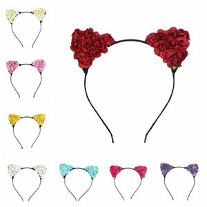 Wholesale Best gift New parent child headdress animation cosplay cat ears hair hoop lady little devil TG029 mix order pieces a