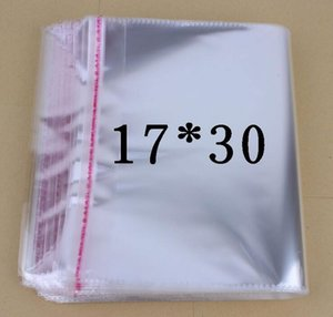 Wholesale Factory direct sale low price Transparent adhesive bag Plastic bags Socks clothes jewelry bags Transparent opp bag x30cm