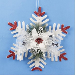 Wholesale Resin Hang Christmas Ornaments With Snowflake As Craft Souvenir For Personalized Gifts or Home Decoration Luxury Snowflake