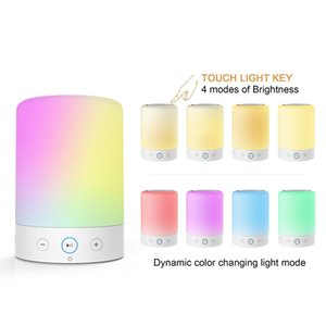 Wholesale LED Bedside Lamp, Color Changing Touch Dimmable Table LED Lamp, Portable Bluetooth Speaker Night Light Table Lamps