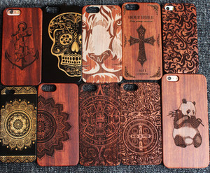 Wholesale Top Quality Real Wood Carving Phone Cover For Iphone Apple S plus Natural Wooden Case For Samsung Galaxy S8 S7 S6 S5