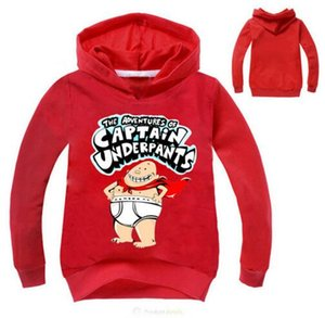 Wholesale 2017 Captain Underpants Sweatshirt For Girls Boys Sweatshirt Hoodies New Movie Costumes Black Tops Autumn Long Sleeve T-shirt