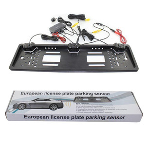 2017 New Arrival Car Parking Radar Inverting European License Plate Parking Sensor with HD Rear View Camera , Fast Shipping