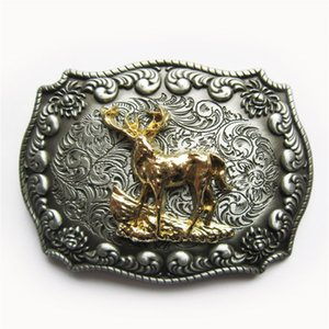 JEAN'S FRIEND New Original Western Cowboy Rodeo Deer Double Color Belt Buckle Gurtelschnalle Boucle BUCKLE-WT134 Brand New Brand New