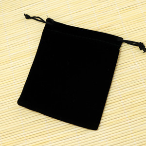Wholesale Small Black Velvet Bags x12cm Fit For Jewelry Packing Bags Christmas Candy Gift Bags