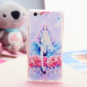 Wholesale mobile phone leather case for S Plus with Embossed painting art