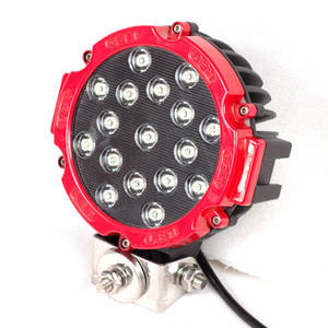 2Pcs 7Inch 51W Car LED Work Light Bar 12V Round High-Power Spot For 4x4 Offroad Truck Tractor ATV SUV Jeep Driving Fog Lights