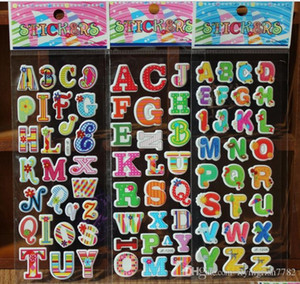 Wholesale Cartoon Kids Room stickers Wall cecor ABC NUMBER Animals Cartoon kids Small Stickers toys cm