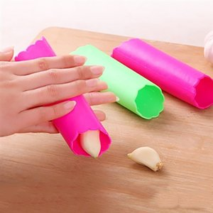 Wholesale Household Magic Silicone Garlic Peeler Peel Easy Useful Kitchen Gadgets Cooking Tool Random Color DHL