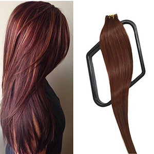 Wholesale adhensive tape resale online - Tape in human hair inch straight skin weft hair extension with Adhensive Tapes g pack Color ELIBESS