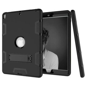 Wholesale Three Layer Armor Defender Full-body Rugged Cute Slim Hard Protective Case Cover for Apple iPad Min 1 2 3 4 5 6 Air Pro 9.7 10.5 with Stand