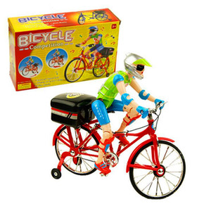 Electric bicycle electric toy figures creative music luminous electric toy bicycle