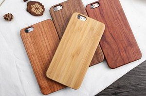 Wholesale 2017 Bamboo Handmade For iPhone Wood TPU Case Wooden Cover For iphone x Samsung S8 Plus S7 Edge S6 Case DHL Free