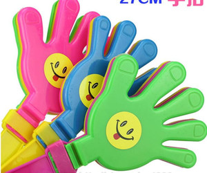 Wholesale plastic hand stick resale online - Plastic Hand clapper clap toy cheer leading clap for Olympic game football game Noise Maker Baby Kid Pet Toy