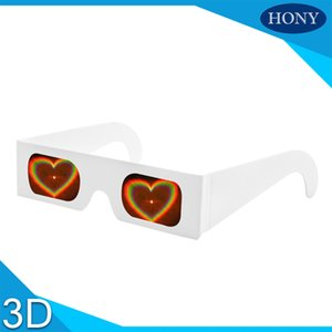 Wholesale Paper Cardboard d firework glasses cheap diffraction glasses heart diffraction glasses