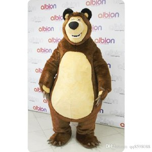 Wholesale 2017 Factory direct sale Masha Bear Ursa Grizzly Mascot Costumes Animal Masha Bear adult Cartoon Mascot Character