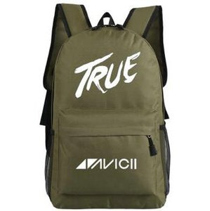 Wholesale Avicii backpack Electronic music school bag Tim Bergling daypack True A schoolbag Outdoor rucksack Sport day pack