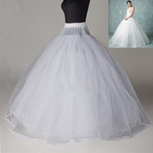 Newest Style WHITE 8 Layers No hoop Bridal Crinoline Petticoat Wedding Accessory Undergarment 8 layers no hoop underskirt soft petticoats on Sale