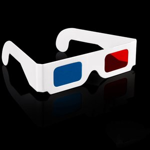 Wholesale Universal Paper Anaglyph D Glasses red cyan blue D glasses paper sizes points D glasses