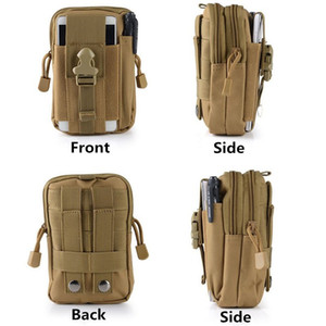 Wholesale For Htc Sony LG Universal Outdoor Tactical Holster Military Molle Hip Waist Belt Bag Wallet Pouch Phone Case Zipper