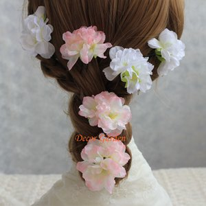 Wholesale 50PCS Artificial Simulation Sakura Oriental Cherry Peach BlossomFor DIY Garland Wreath Wedding Headwear Brooch Hat Decorative