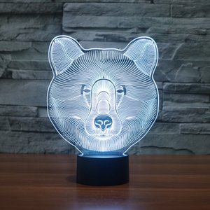 Wholesale Polar Bear D Illusion colorful effect Change Touch Switch USB Table Light Awesome Toy Gift Decoration for Boys and Girls