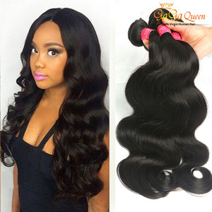 Wholesale best human hairs for sale - Group buy 8A Best Quality Brazilian Virgin Hair Body Wave Human Hair Extensions Brazilian Body Wave Double Weft Hair Weaves Gaga Queen
