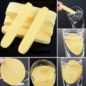 Wholesale sponges for sale - Group buy Soft Compressed Sponge Face Cleaning Sponge Facial Wash Cleaning Pad Exfoliator Cosmetic Puff Face Cleaning Puff J1729