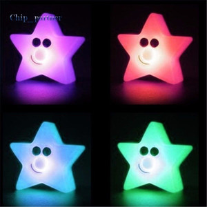 Wholesale Five Pointed Star Shaped Light Color Changing Night LED Light Home Decoration R834