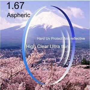 RX-lenses Customized 1.67 high-index ultra-light prescription glasses asperic myopia lenses
