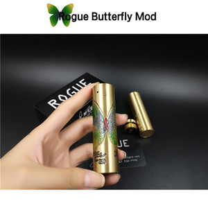 Wholesale Rogue Butterfly Mod Mech Electronic Cigarette Brass Color with Beautiful Butterfly Design Fit Battery RDA DHL Free