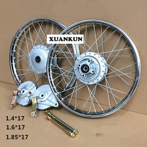 JH70 Motorcycle Retrofit Front and Rear Wheel Assembly   Widened Steel Ring DY100 Wheels on Sale