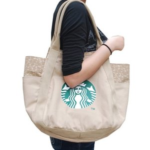 Wholesale 2017 Hot Starbucks women handbag Japan fashion brand Canvas shopping bag High quality shoulder bag colors