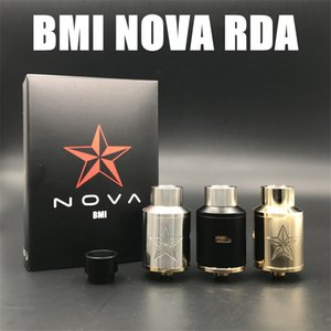 Wholesale 2017 The BMI NOVA RDA MM Stainless Steel Electronic Cigarette Rebuildable Dripping Atomizers Colors Peek insulators fit Mod
