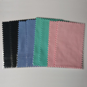 Burnishing 11x7cm Silver Polishing Cloth for silver Golden Jewelry shining Cleaner Black Blue Pink Green colors Best Quality opp bag packing