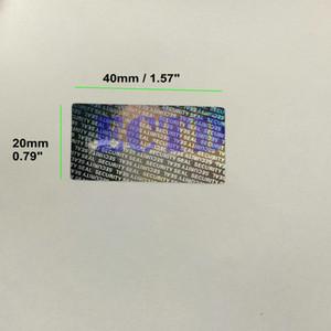 500pcs 40*20mm Hologram Security Seal Tamper Proof Warranty Void Label Stickers