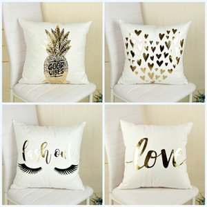 Wholesale Cushion Cover Creative Pineapple Printing Pillow Case For Home Sofa Decor Pillowslip Comfortable Many Styles hm C R