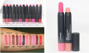 NEW Makeup Patent polish Lip Pencil Velvet Matte Lipstick Pencil 2.3g Free shipping 12pcs lot