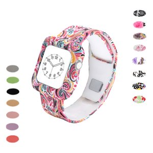 Wholesale 38mm mm Soft Silicone Band with Protective Case for iwatch Series Series Edition Sport Breathable Bracelet Strap Indian Flower