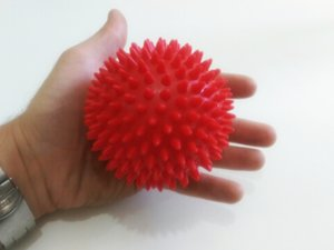 9cm 3.5inch Effective Spiky Massage Ball Trigger Point Foot Muscle Pain Relief Yoga Health Care Full Body Massager (3 Colors)