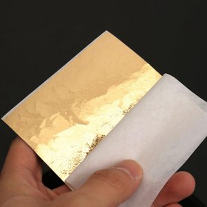Wholesale Modern 100 Sheets Set Gold Foil Leaf Aluminum Leaf Gilding Handicrafts Decorative Craft Paper DIY Decor for Furniture 8x8.5cm