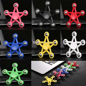 Hot latest creative Five Angle Fidget Spinners HandSpinner five star Hand Spinner EDC Toy For Decompression Anxiety